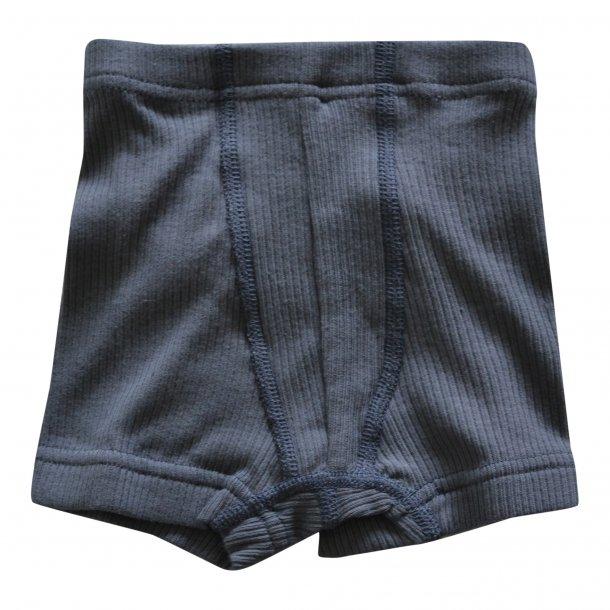 Engel, drenge underbukser i rib til drenge, Grafit grå